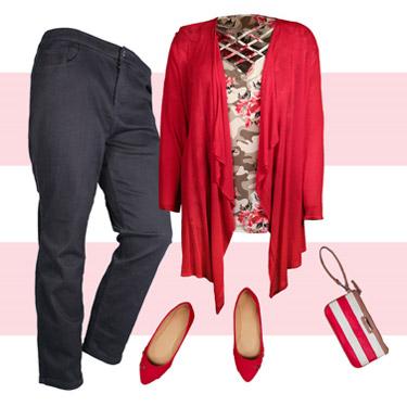 Shirt, pants, purse, and flats