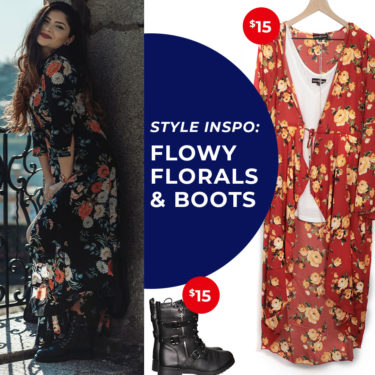 flowy florals and boots